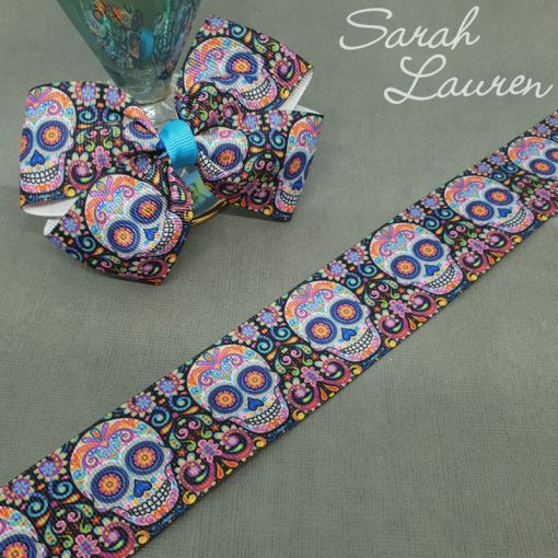Sugar Candy Skulls Ribbon 38mm