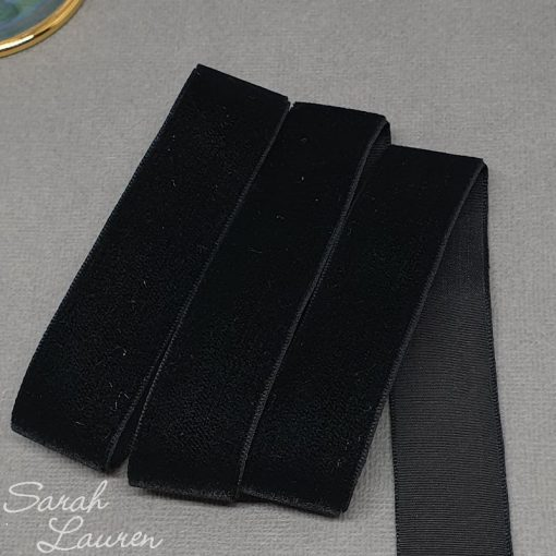 Black Velvet Ribbon 22mm
