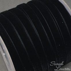 Black Velvet Ribbon 9mm