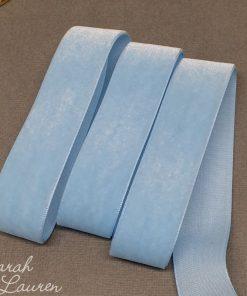 Blue Topaz Velvet Ribbon 22mm