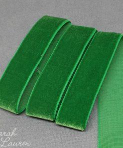 Emerald Velvet Ribbon 22mm