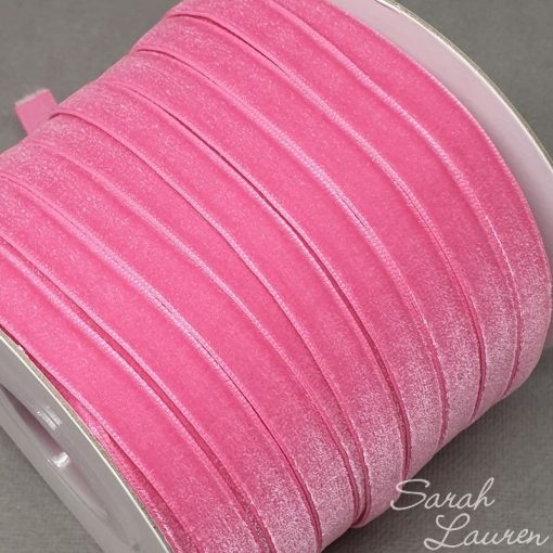 Hot Pink Velvet Ribbon 9mm