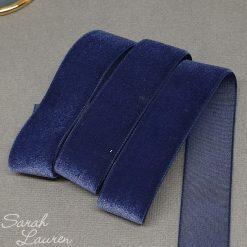 Navy Velvet Ribbon 22mm