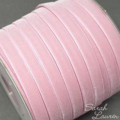 Pearl Pink Velvet Ribbon 9mm