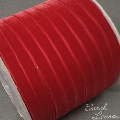 Red Velvet Ribbon 9mm