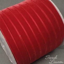 Red Velvet Ribbon 9mm