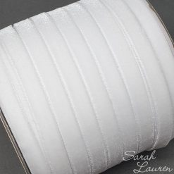 Velvet White ribbon 9mm