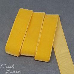 Yellow Gold Velvet Ribbon 22mm