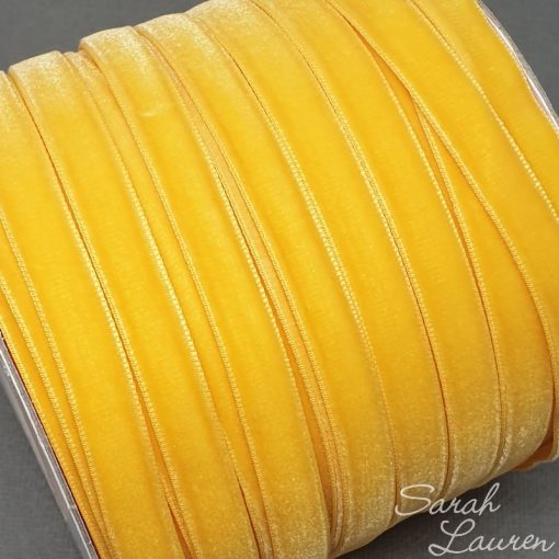 Yellow Gold Velvet ribbon 9mm
