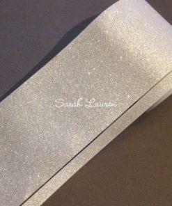 White Glitter ribbon 75mm & 9mm