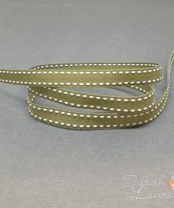 White Saddle Stitch Ribbon on Willow 9mm
