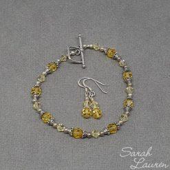 Yellow Swarovski crystlal bracelet